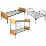Железные армейские кровати,  одноярусные металлические для больниц,  бытовок,  общежитий,  интернатов,  школ.  От производителя.